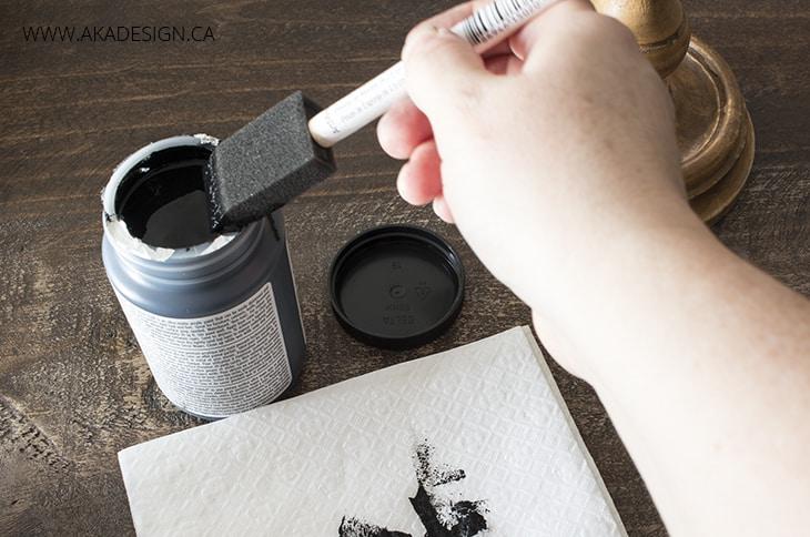 apply black paint