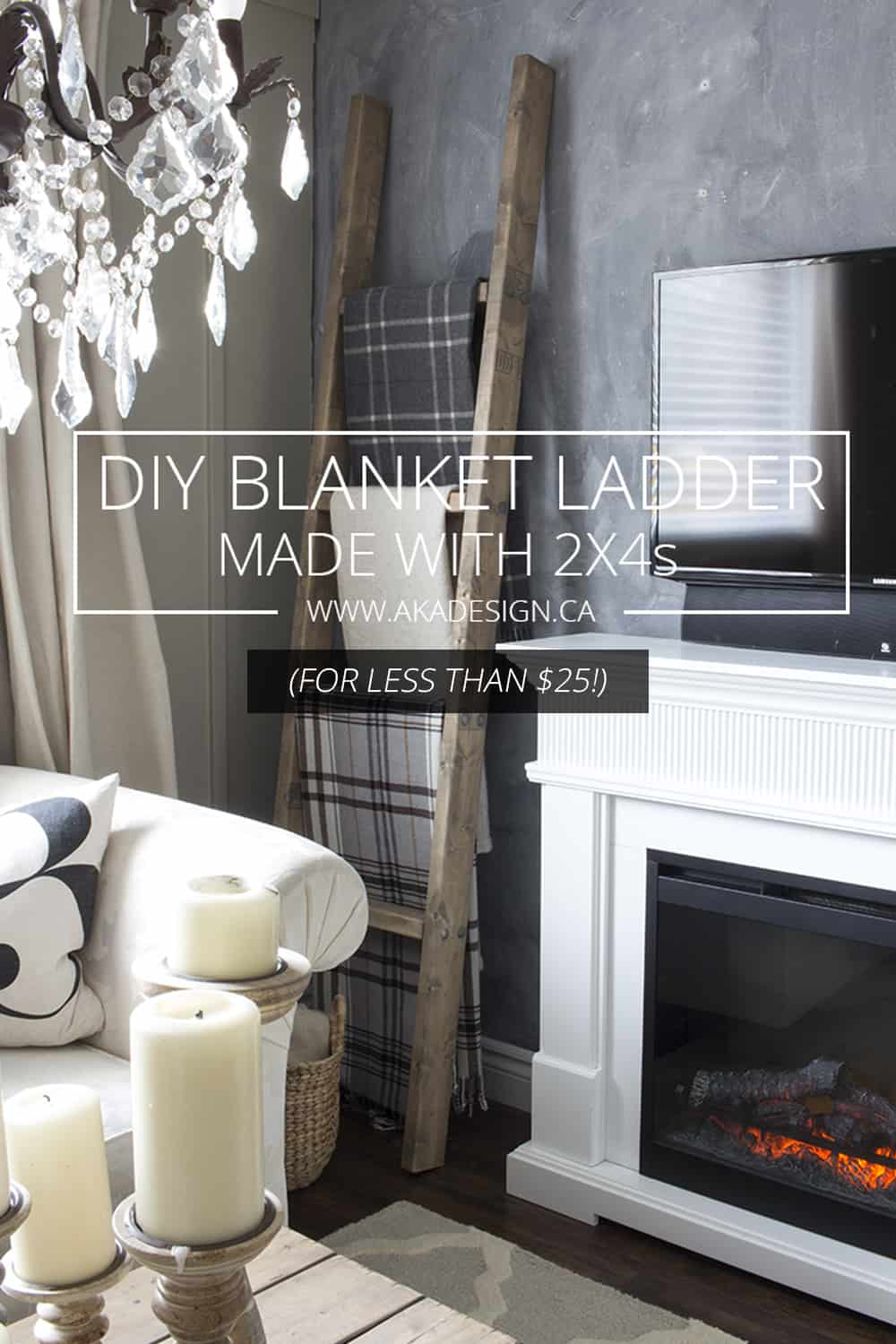 DIY Blanket Ladder Made with 2x4s: Oh man! This is so easy and it looks gorgeous finished.