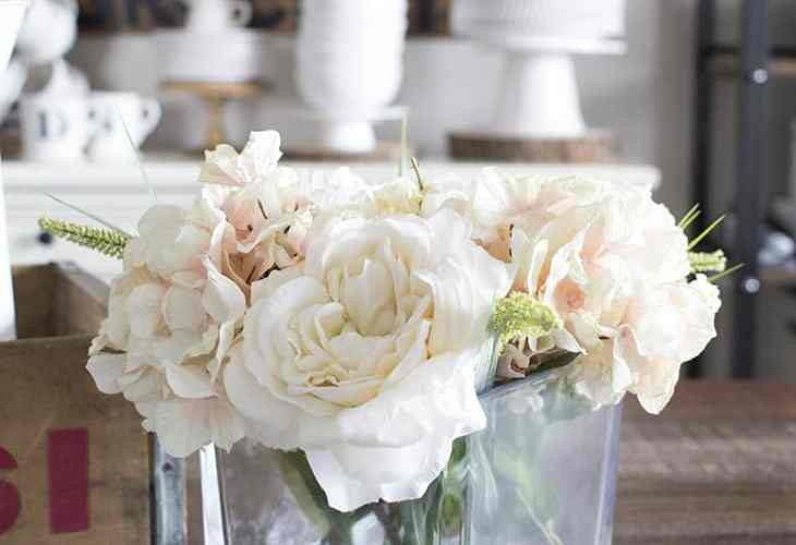 DIY Faux Floral Arrangement with Water