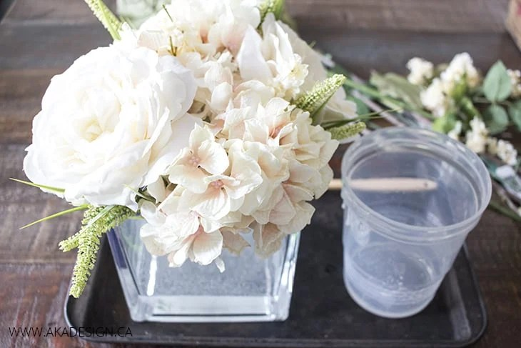 rearrange flowers in quick water