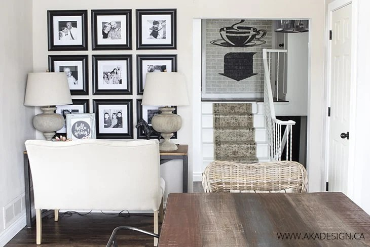 how to decorate with family photos