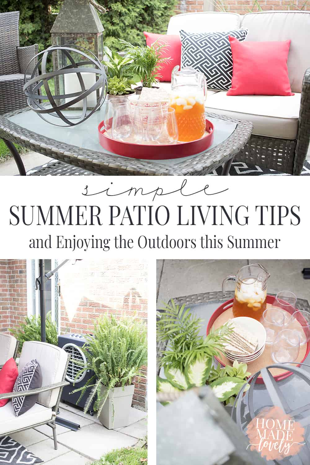 Easily refresh your outdoor space with our simple summer patio ideas and stay cool this summer while enjoying the outdoors!