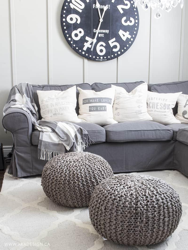 Ikea Ektorp Grey Sectional