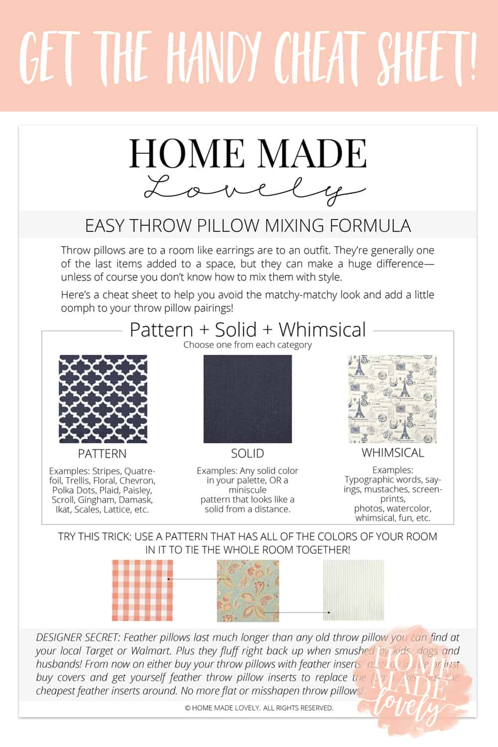 How To Mix Throw Pillows And Patterns With Style Free Printable