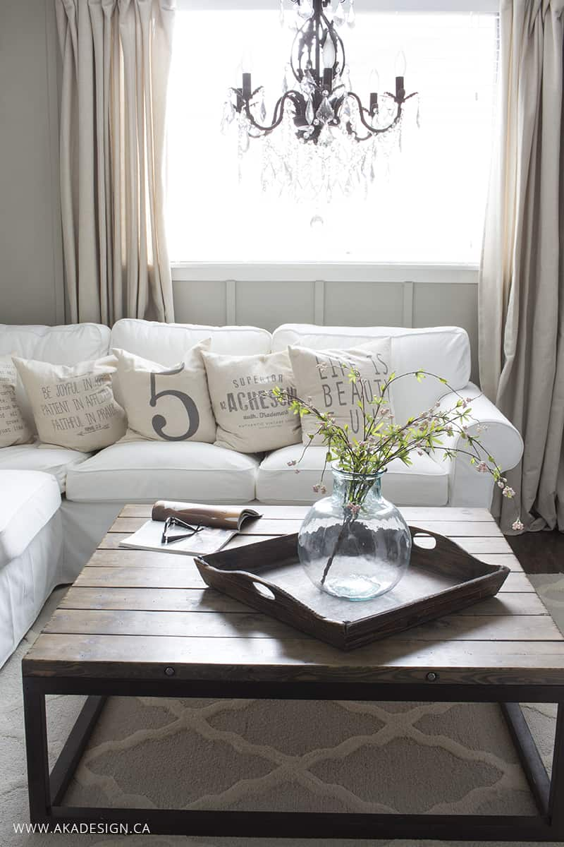 White slipcovers are not easy to keep clean