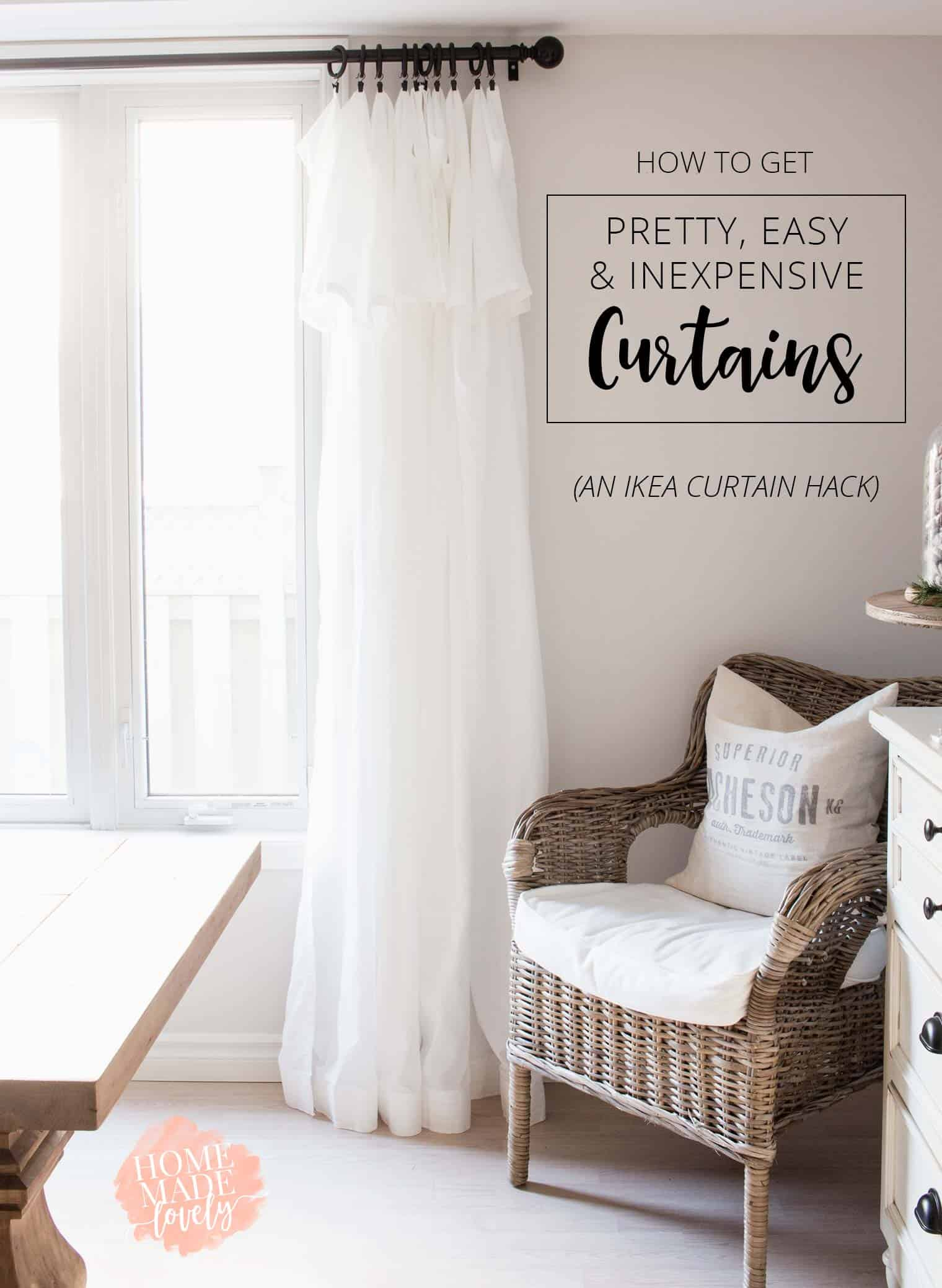 Curtains Are Often Expensive Or Just Plain Ugly! Get Pretty, Easy,  Inexpensive Curtains