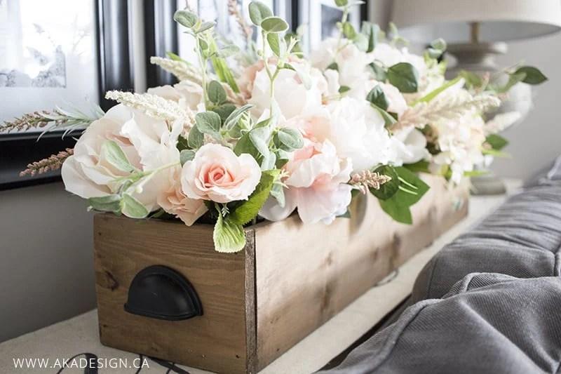 realistic faux floral arrangement