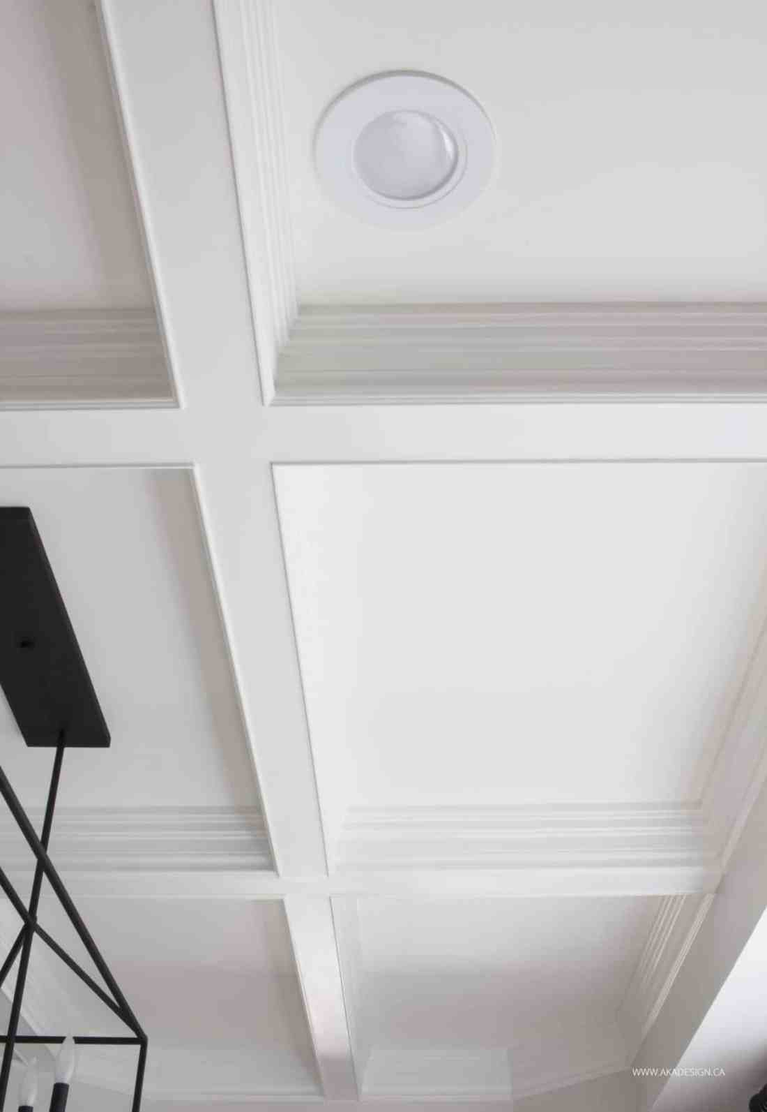 NO Crown Molding Coffered Ceiling