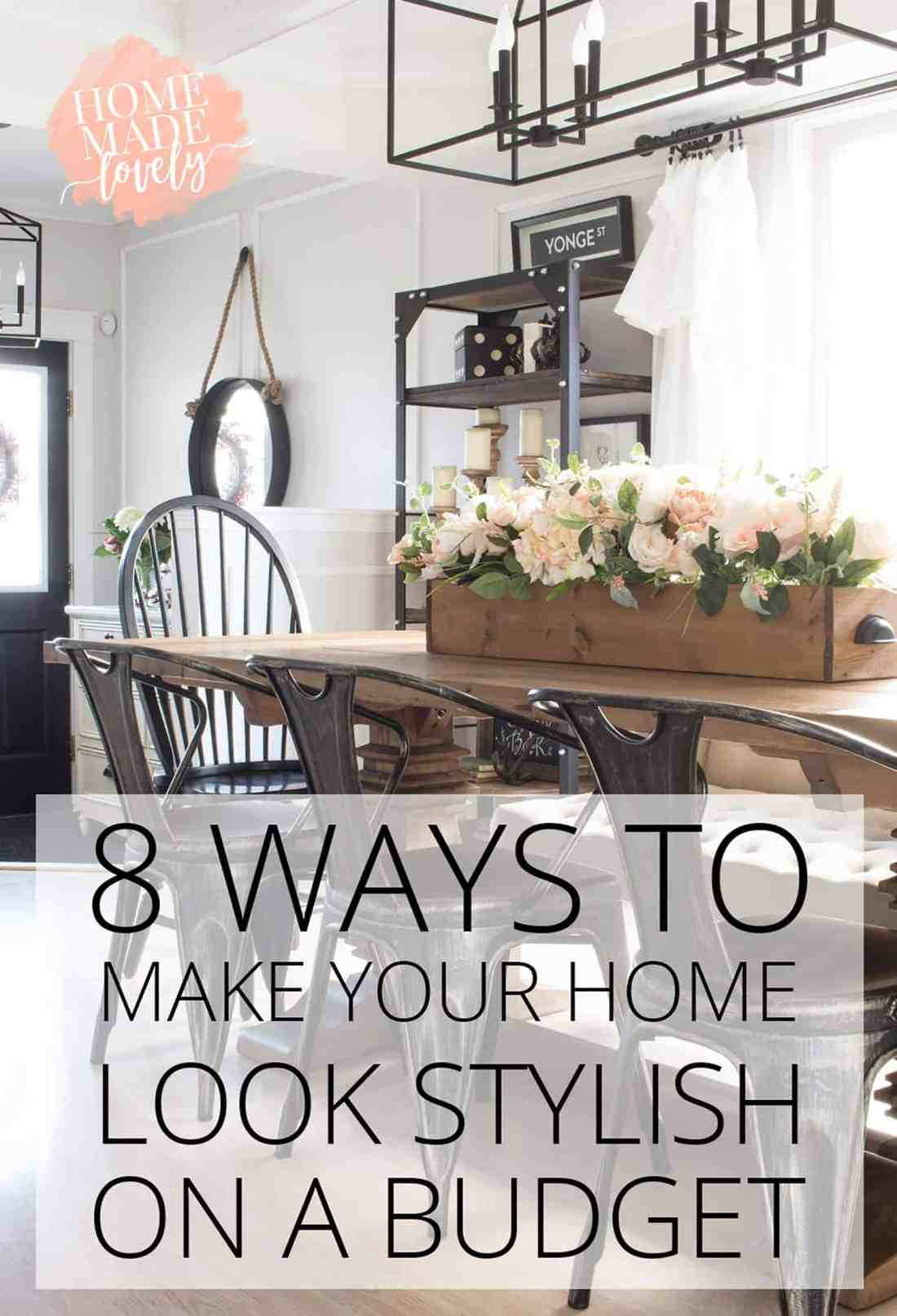 Let's face it, we don't all have huge budgets for making our homes cozy and beautiful. Sometimes we all need a few tricks up our sleeve, ways to make our homes look stylish on a budget, right?