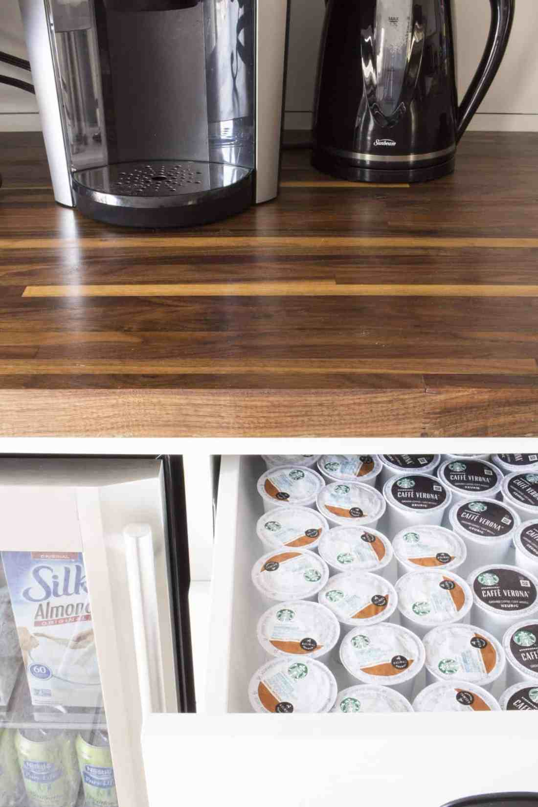 k cup storage drawer