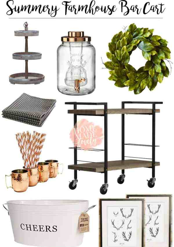 3 Summery Ways to Style a Bar Cart