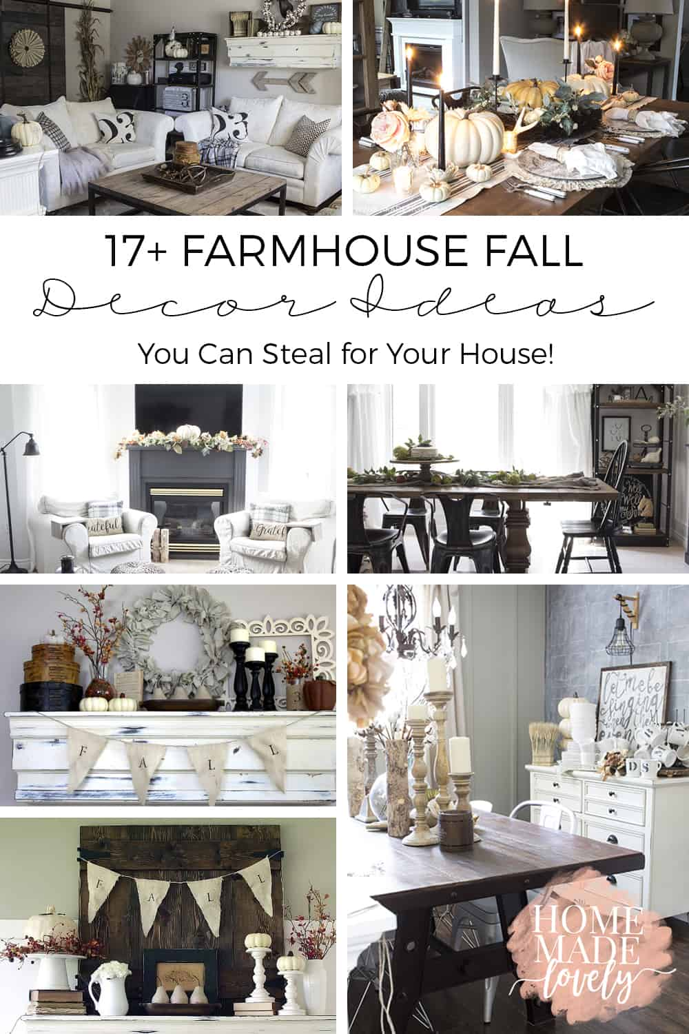 Farmhouse Fall Decor Ideas