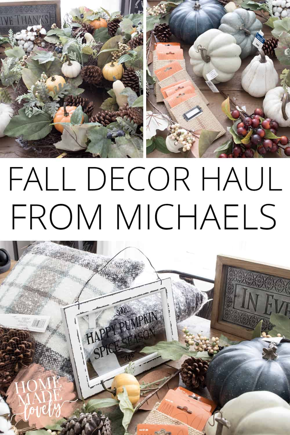 fall decor haul from michaels pin