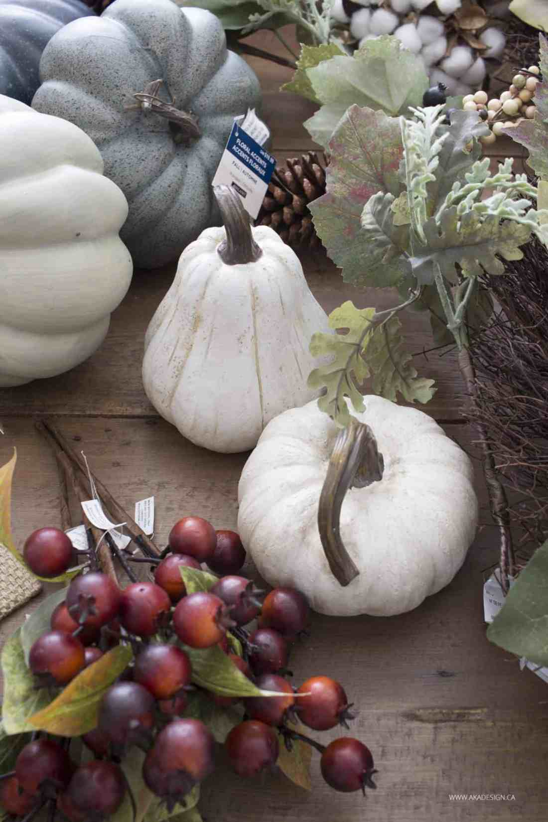 faux white gourds