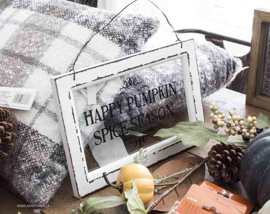 happy pumpkin spice season sign