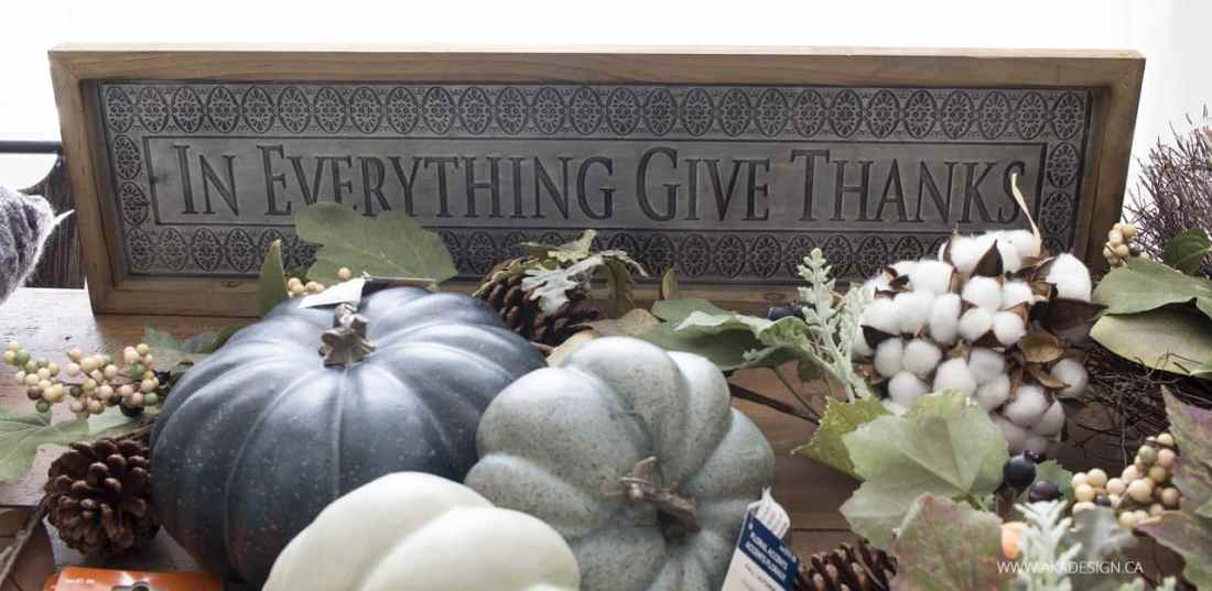 in everything give thanks sign from michaels
