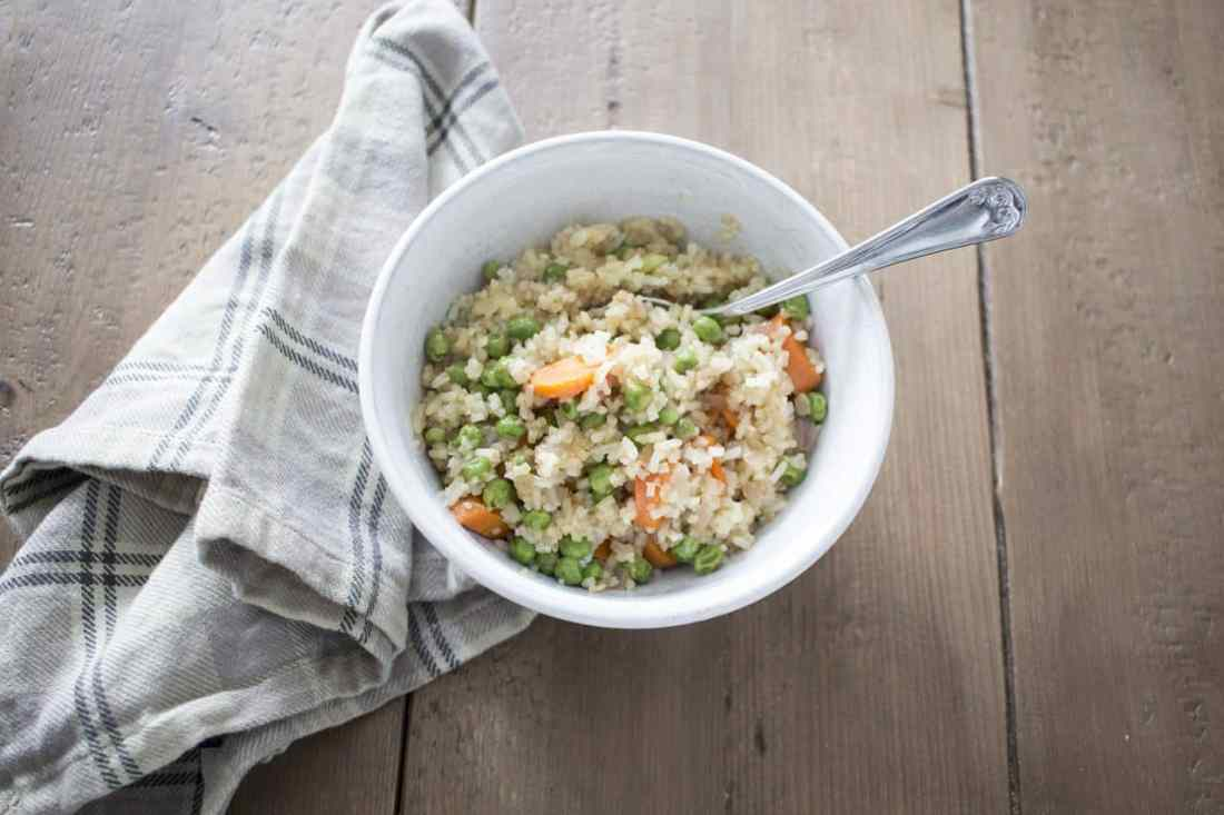 vegan vegetable fried rice