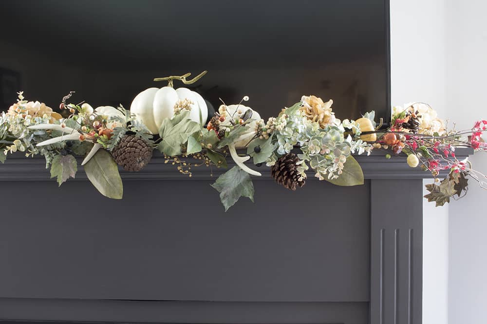 fireplace garland detail