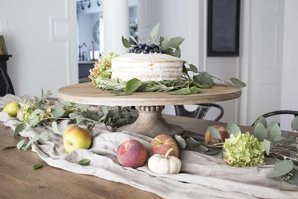 naked cake centerpiece