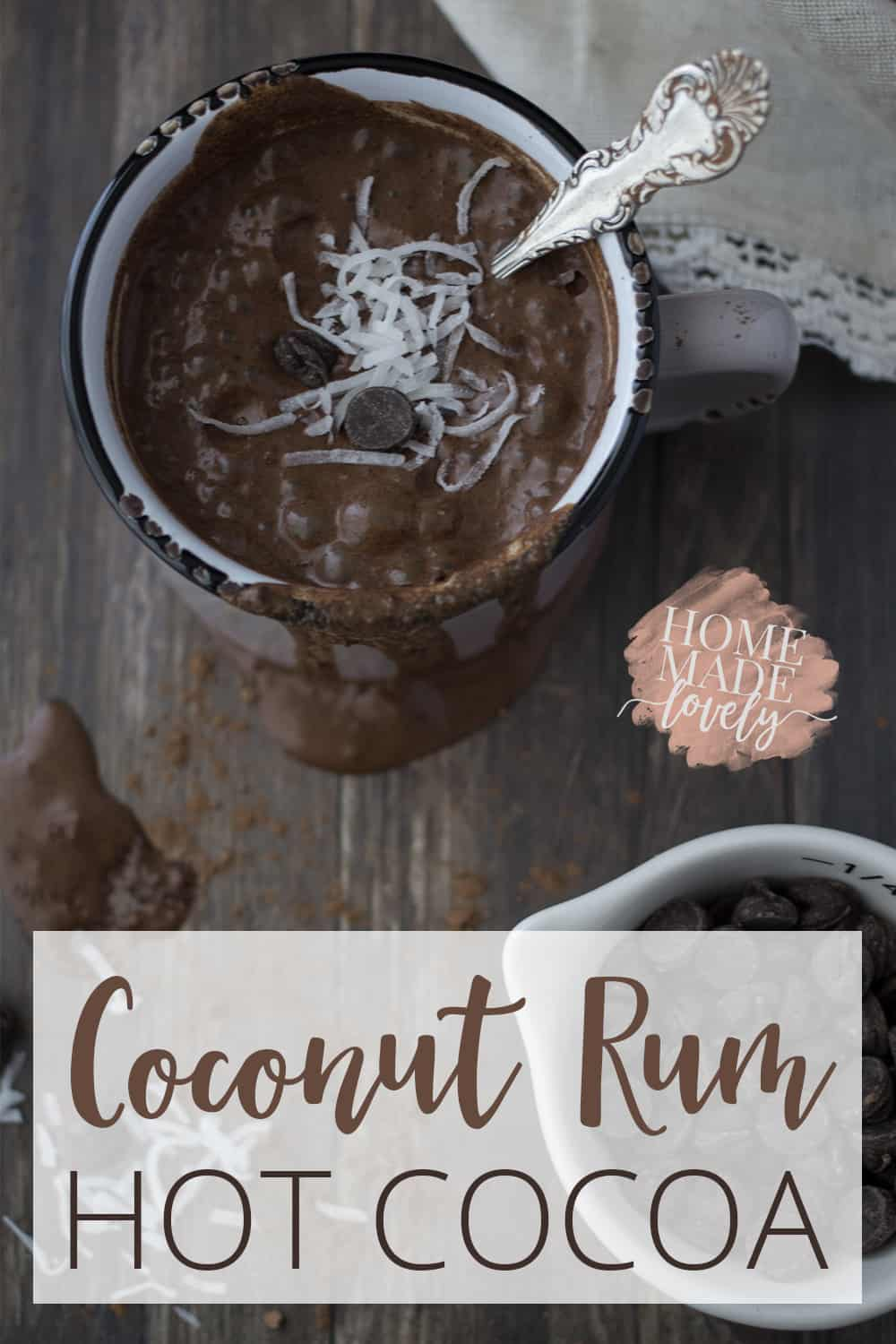 Everyone loves a cup of hot cocoa in the middle of winter. This recipe for coconut rum hot cocoa is sure to warm up your winter evenings!
