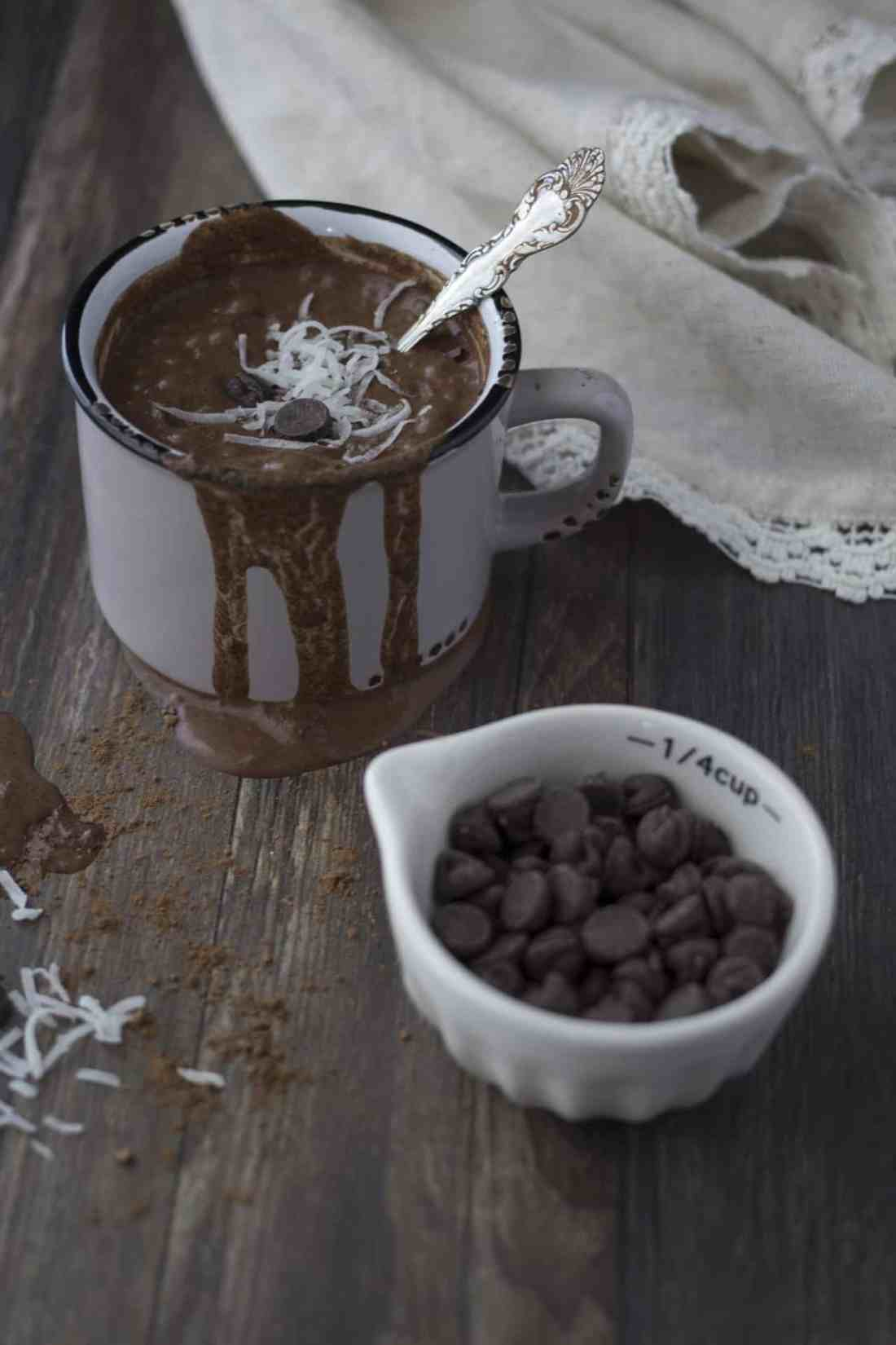 hot chocolate with coconut rum