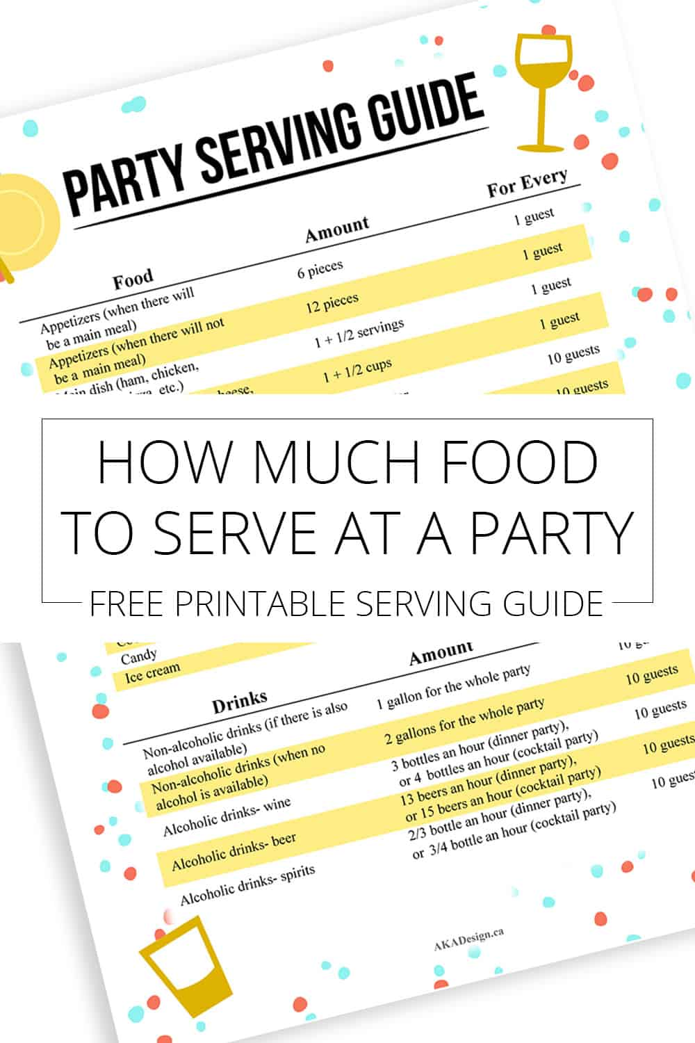 A lot goes into hosting a party. Rather than over-preparing & wasting money, here's a simple guide to help you figure out How Much Food to Serve at a Party!