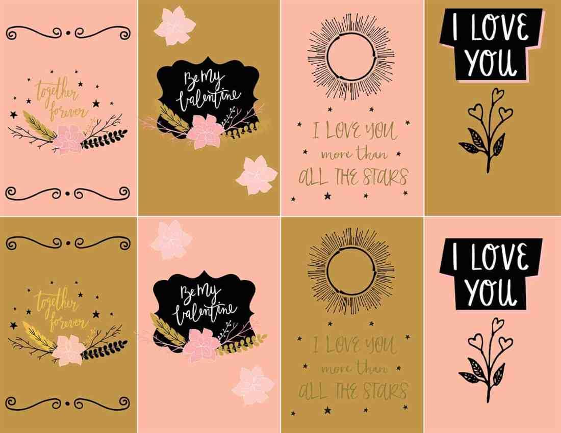 Free printable farmhouse Valentine's Day cards
