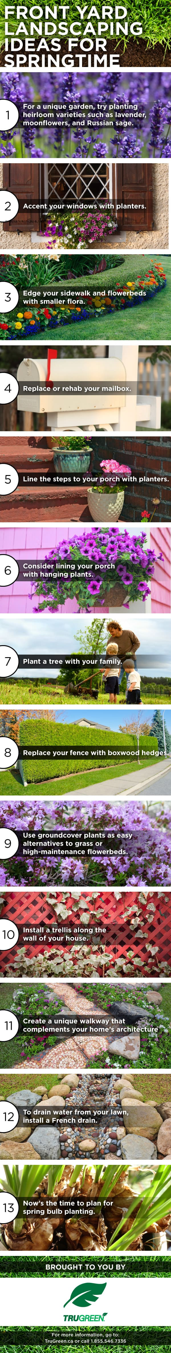 Whether you're preparing to sell your house, or you just want to improve your home's curb appeal, here's our Curb Appeal 101, 13 ideas for Spring landscaping!