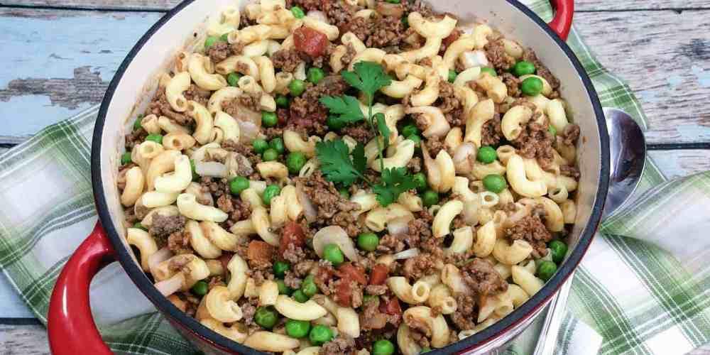 irish pasta in a red pot