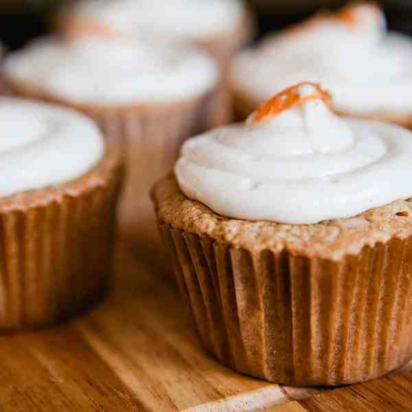 carrot cupcakes with cream cheese icing