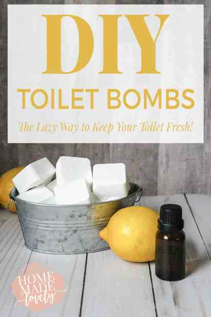DIY Toilet Bombs-The Lazy Way to Keep Your Toilet Fresh! by Home Made Lovely