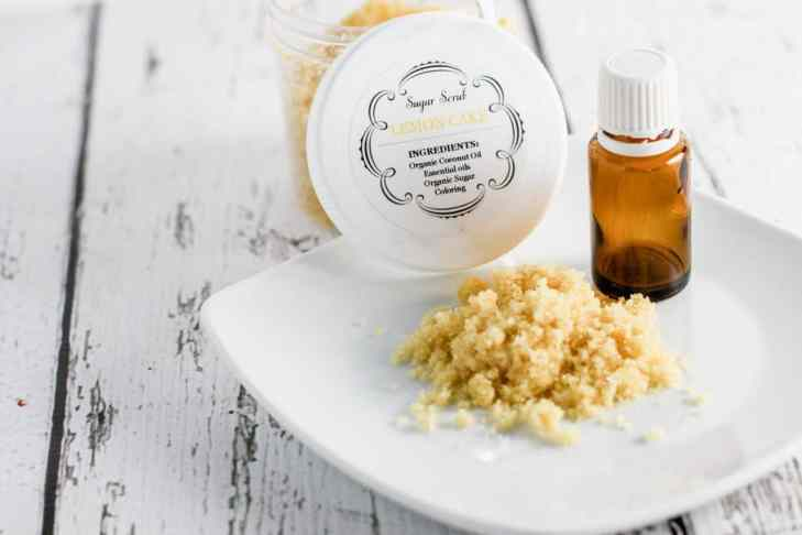 Lemon Cake Homemade Sugar Scrub - DIY Hand Scrub - Get Soft Hands!
