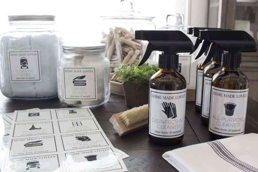 disinfectant cleaner bottle
