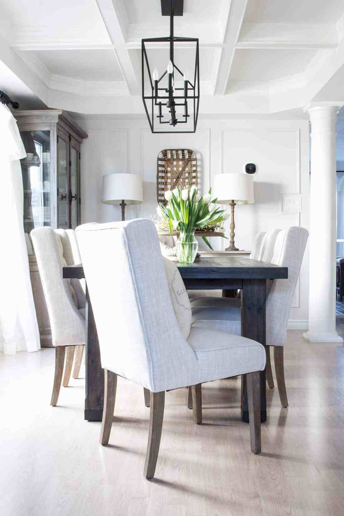 Dean and Shannon's suburban farmhouse dining room reveal.