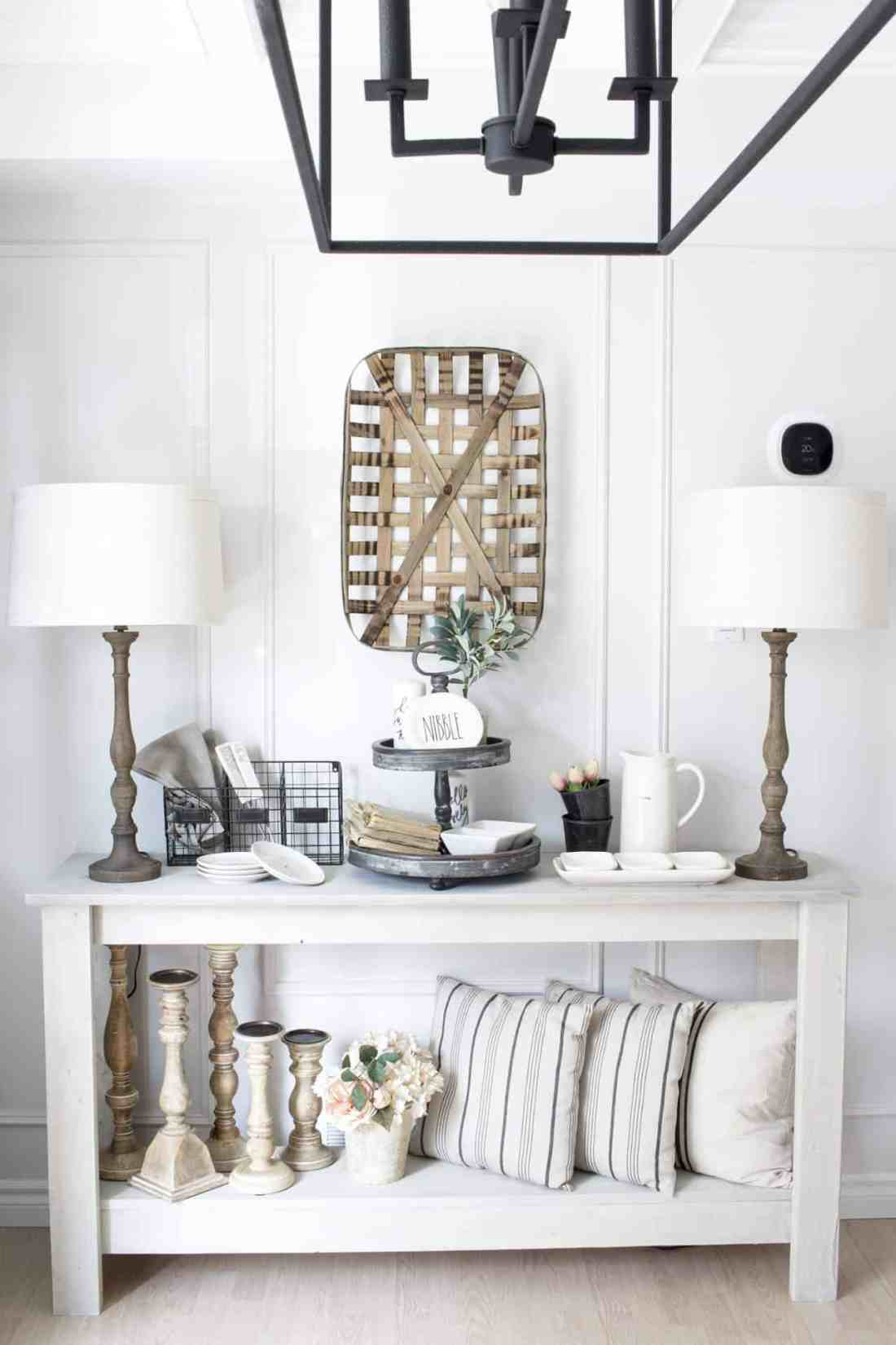 farmhouse console table dining room