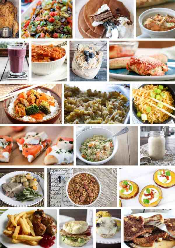 Meal Plan Monday – A Week's Worth of Meals with Gluten Free, Dairy Free Options