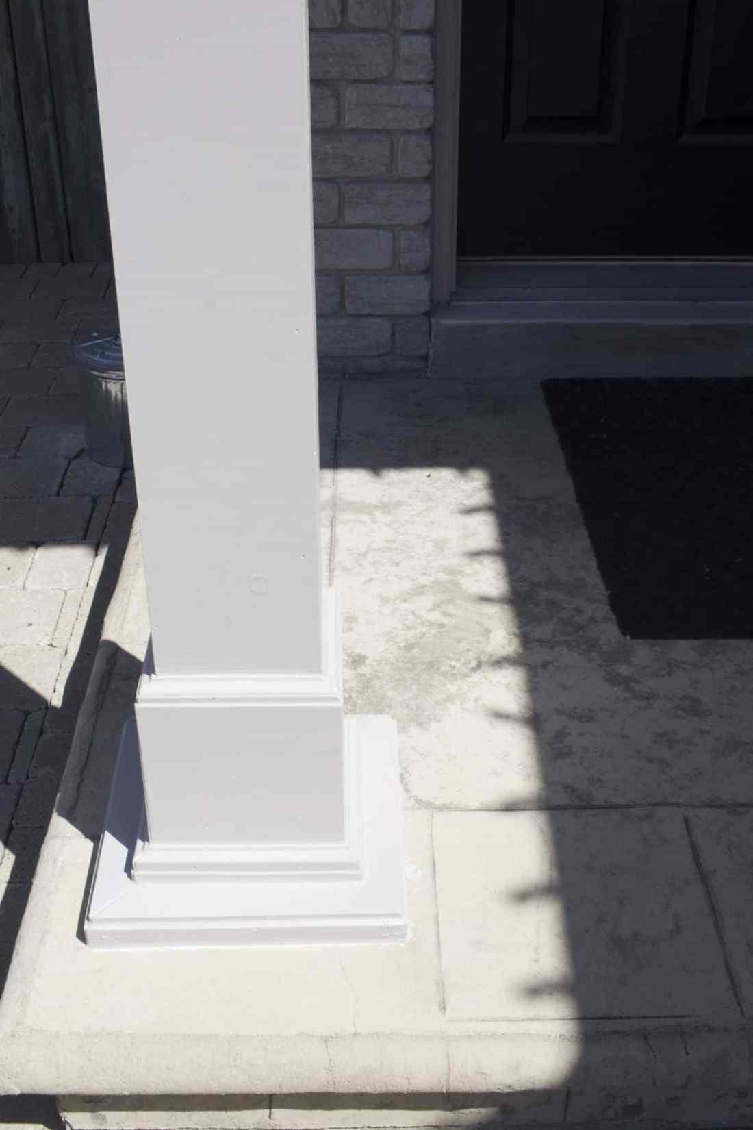 porch pillar after
