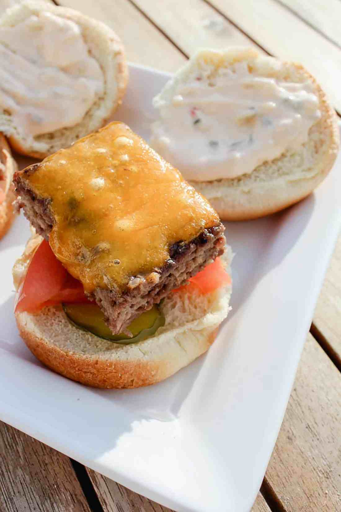 sheet pan burgers with copycat big mac sauce