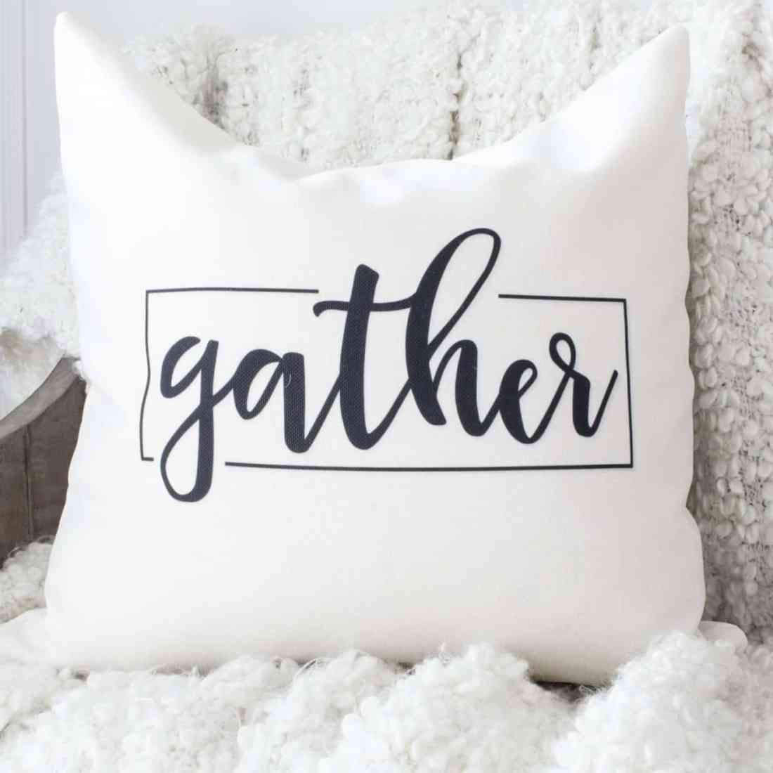 gather throw pillow cover