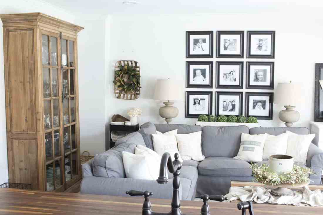 farmhouse bookcase with doors gallery wall sectional