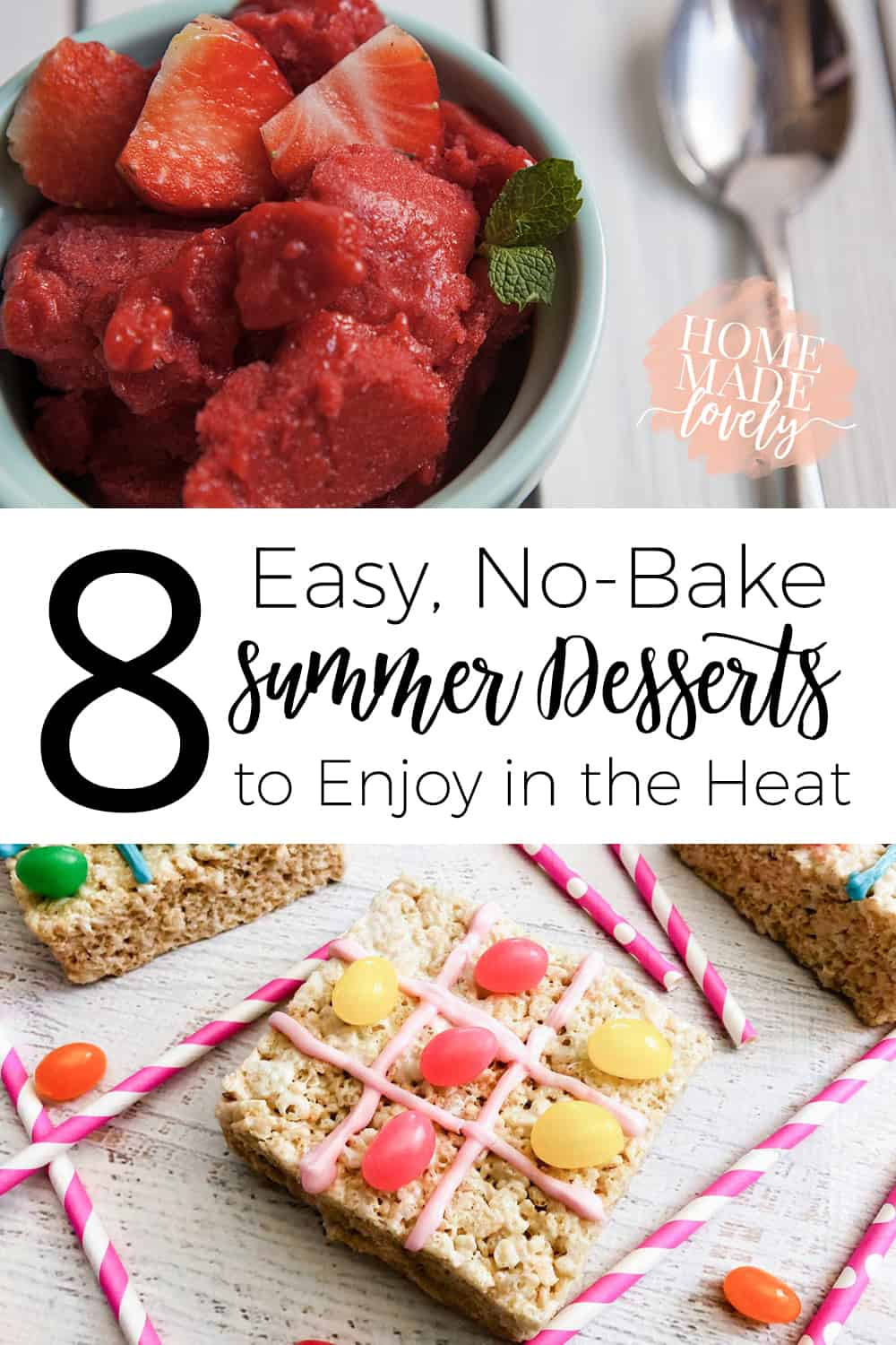Got a craving for something sweet, but don't want to turn on the oven in the sweltering heat? Try one (or all) of these 8 easy, no-bake summer desserts and satisfy your sweet cravings without heating up the house. Easy sorbets, chocolate pudding, chocolate dipped fruit and more easy, no-bake summer desserts.