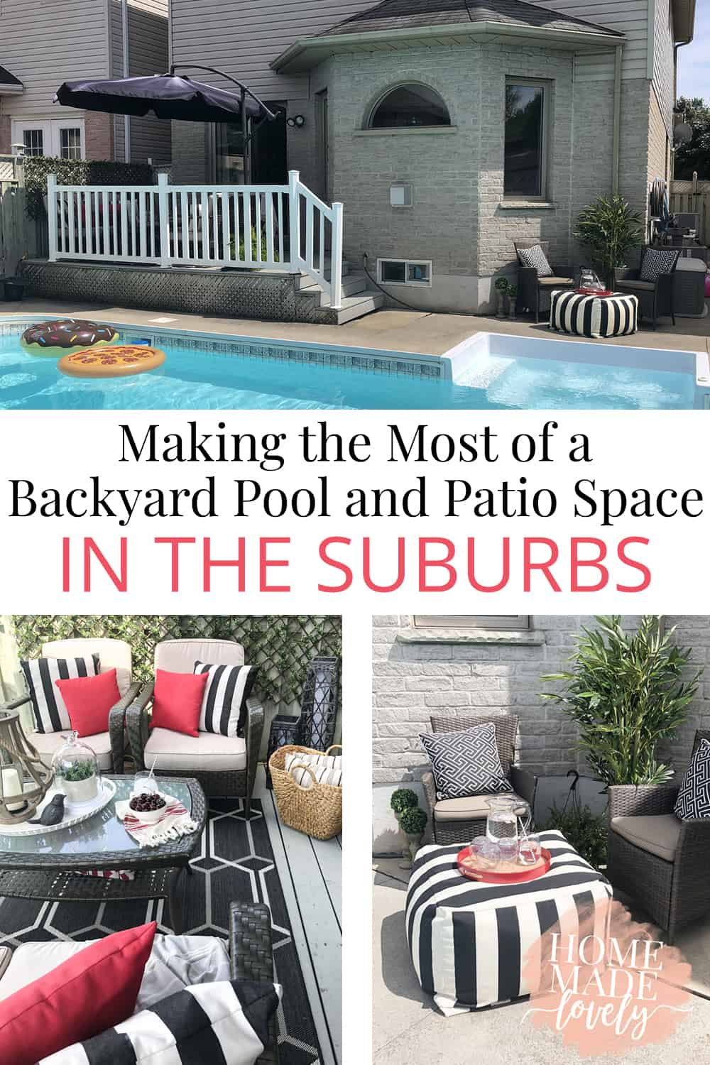 You don't have to have a huge yard to enjoy it! Here's how we're making the most of our suburban backyard pool and patio space this summer. And how you can make the most of your space too.