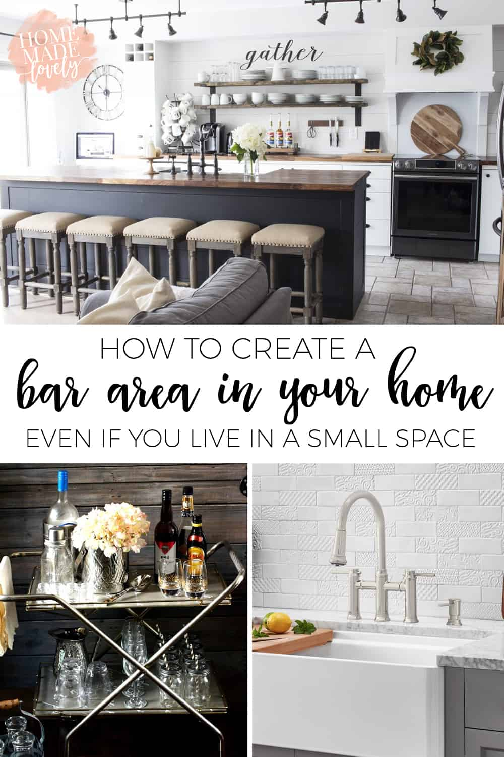 How To Create A Bar Area In Your Home Pin