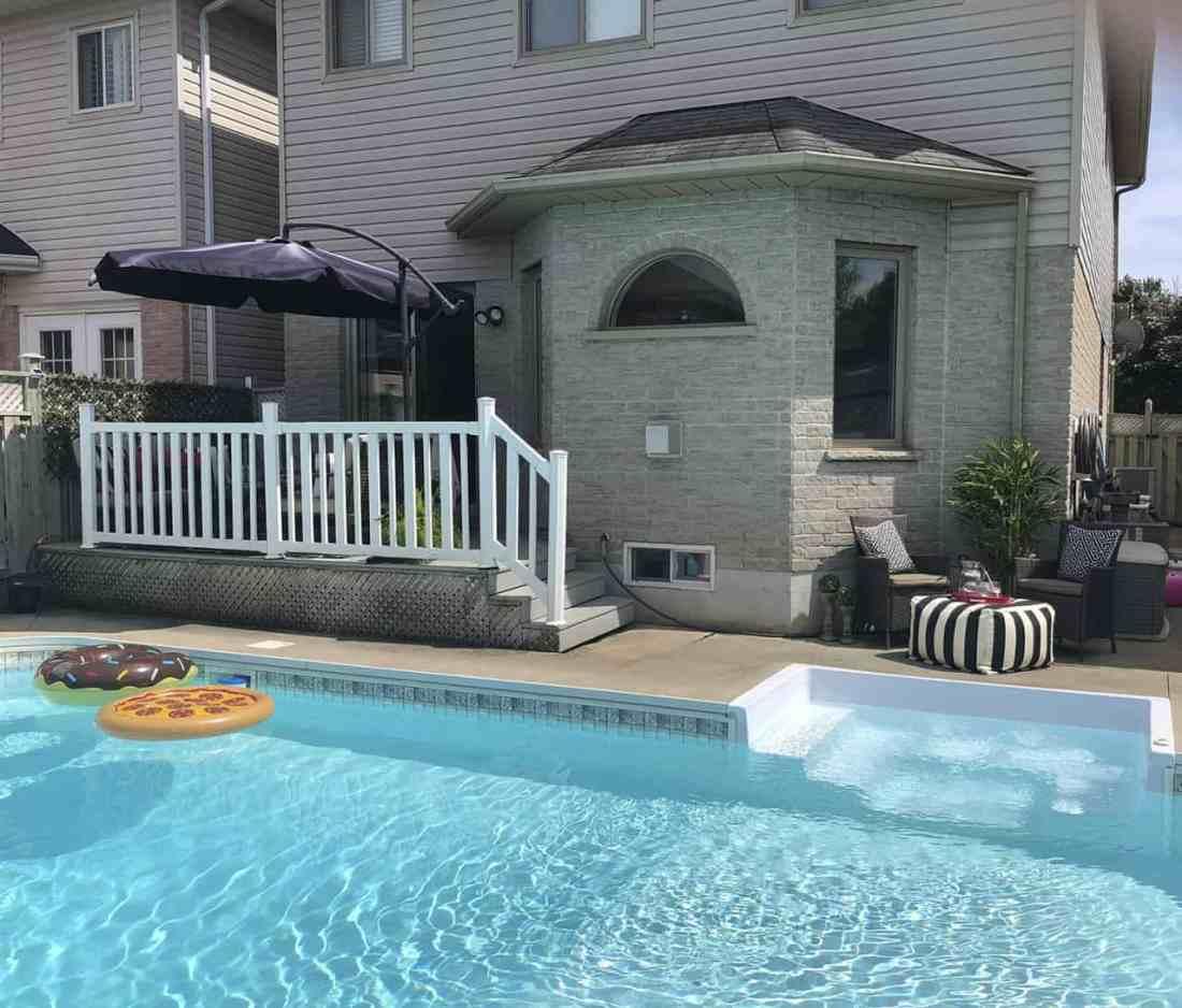 suburban pool and deck zones