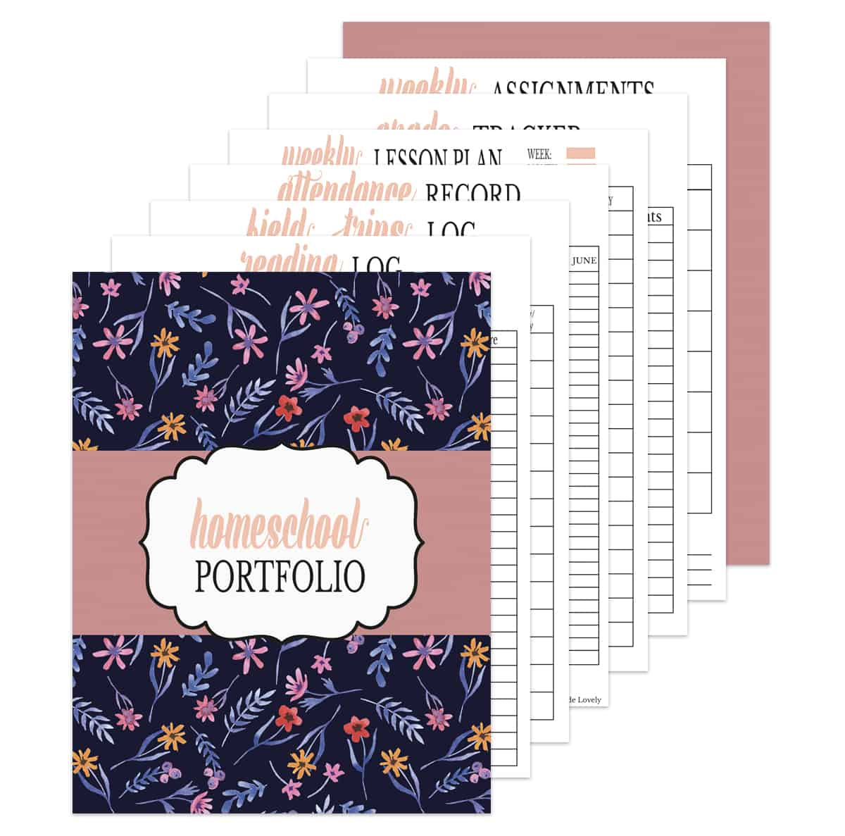 photo regarding Free Printable Homeschool Record Keeping Forms known as Homeschool Background Holding - How towards Build a Portfolio within 5