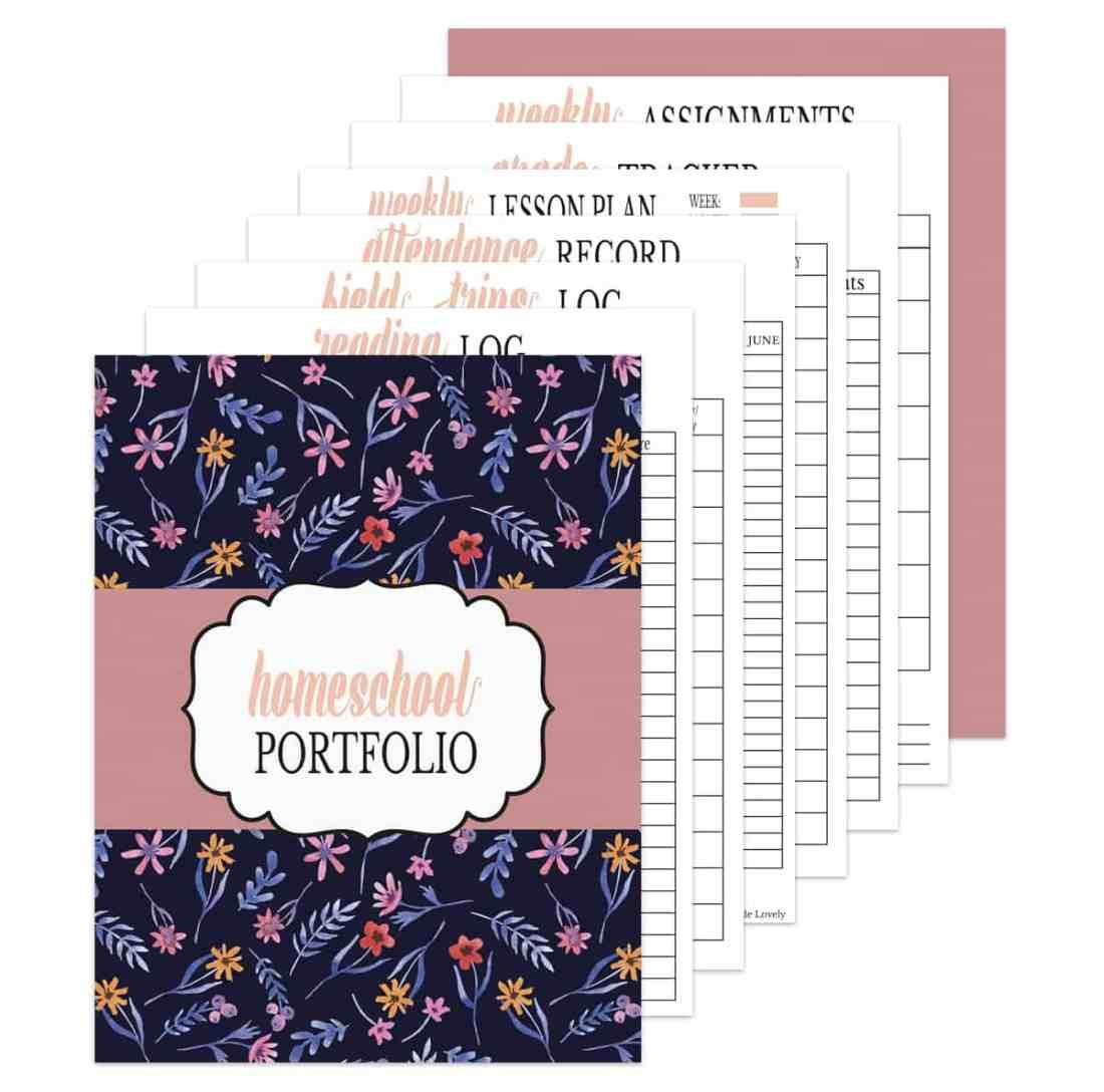 homeschool record keeping portfolio free printable