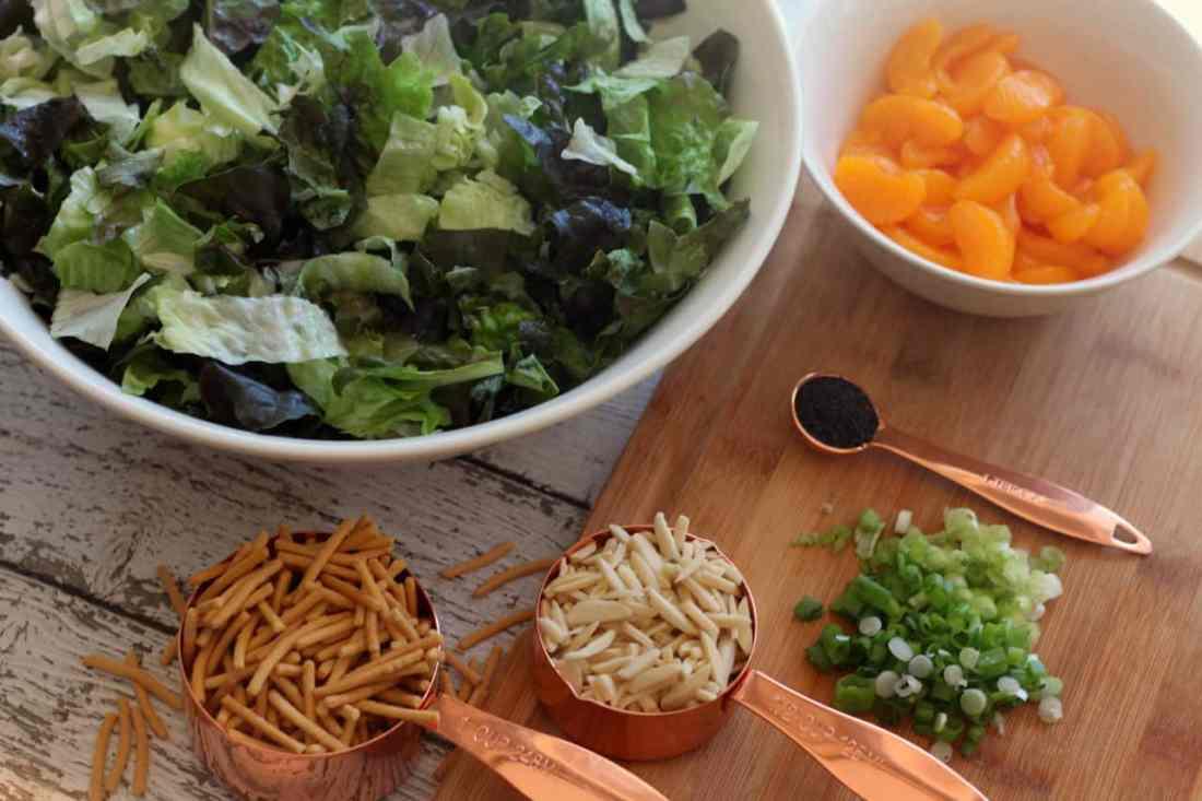 Mandarin Salad - Prep 2