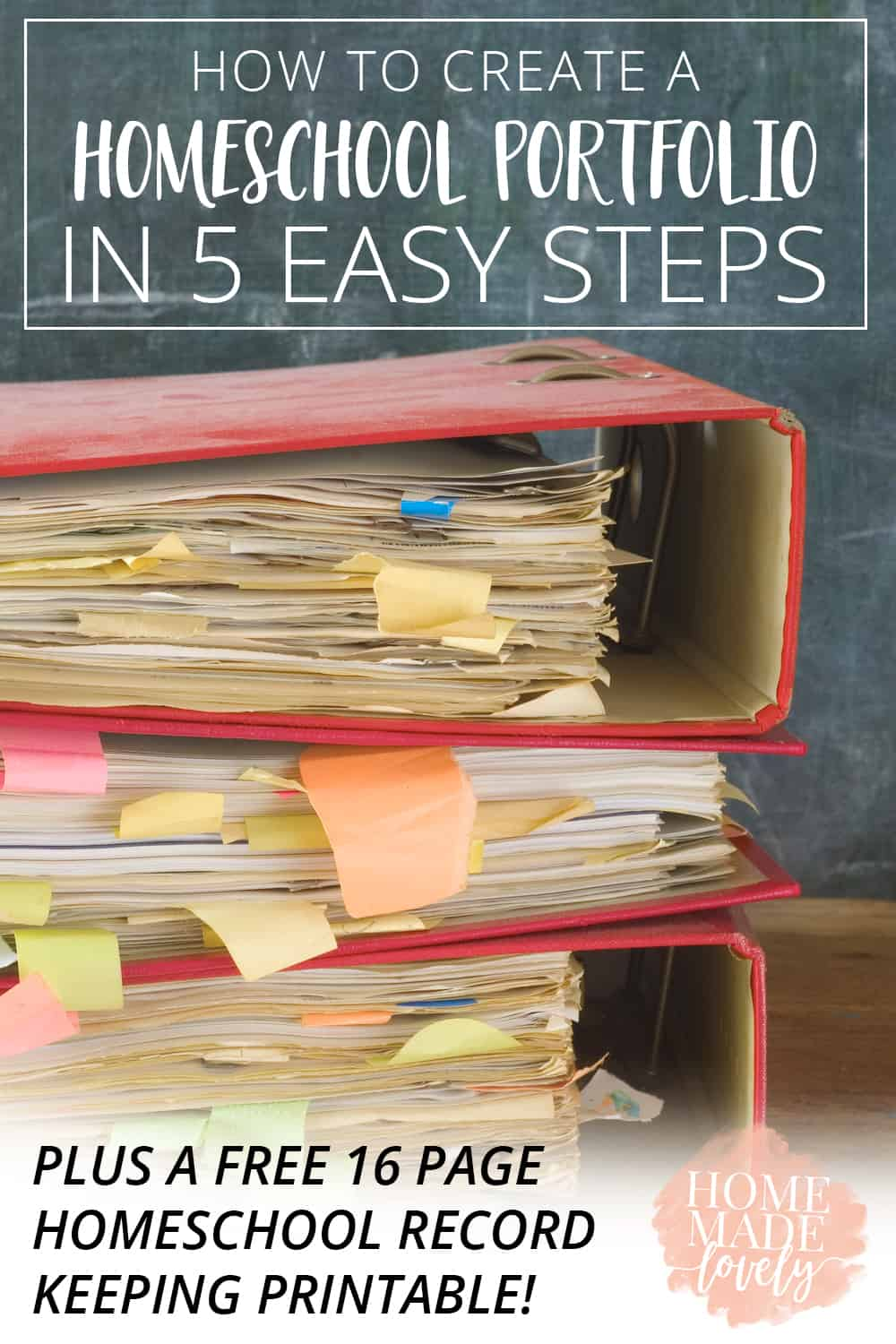 Creating a homeschool portfolio is seen as a tiresome and challenging task by many homeschoolers. It doesn't have to be and these 5 homeschool record keeping tips will teach you exactly how you can create one easily.