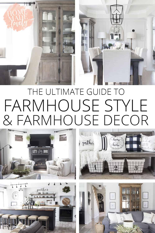 farmhouse style and decor