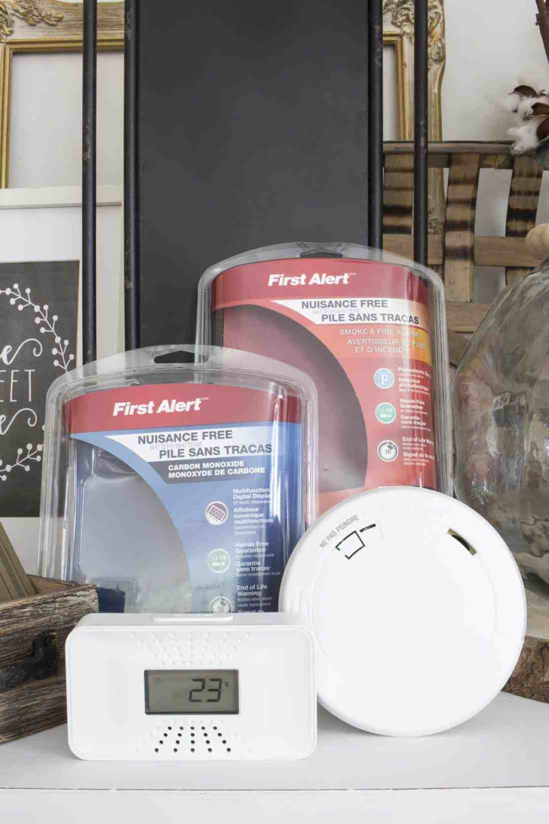 First Alert CO and Fire Alarm with packages